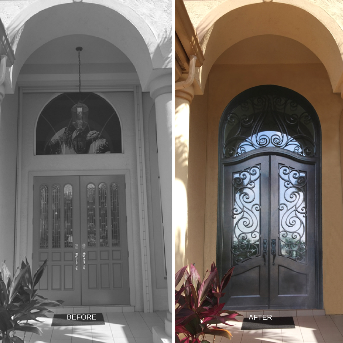 Custom Entryway Before and After