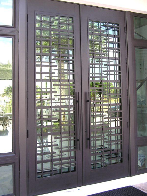 Decorative Entry Doors Impact Ready Glass
